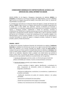 condiciones generales de contratación del acceso a los servicios