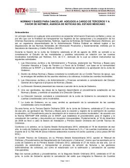 Normas y Bases para la cancelación de adeudos.