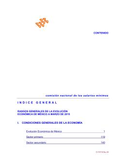 Índice de marzo 2015 - Comisión Nacional de los Salarios Mínimos