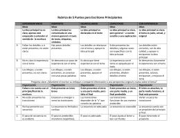 Rubrica de 5 Puntos para Escritores Principiantes