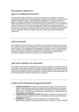 Documentos aduaneros