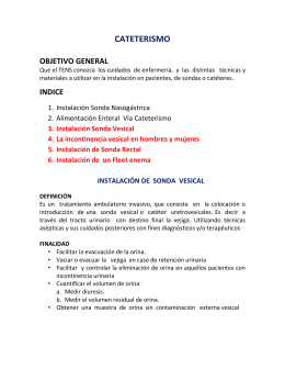 CATETERISMO SONDA VESICAL