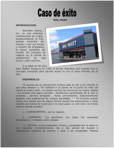 walt-mart exito y fracaso - HighPerformanceDirectionSystems