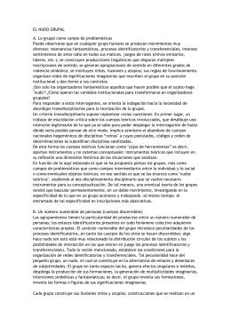 EL NUDO GRUPAL A. Lo grupal como campo de problemáticas