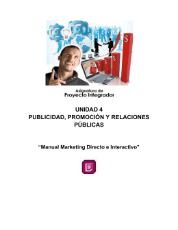 Manual de Marketing Directo e Interactivo