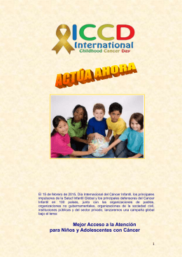 OUR CALL TO ACTION: International Childhood Cancer Day 2015
