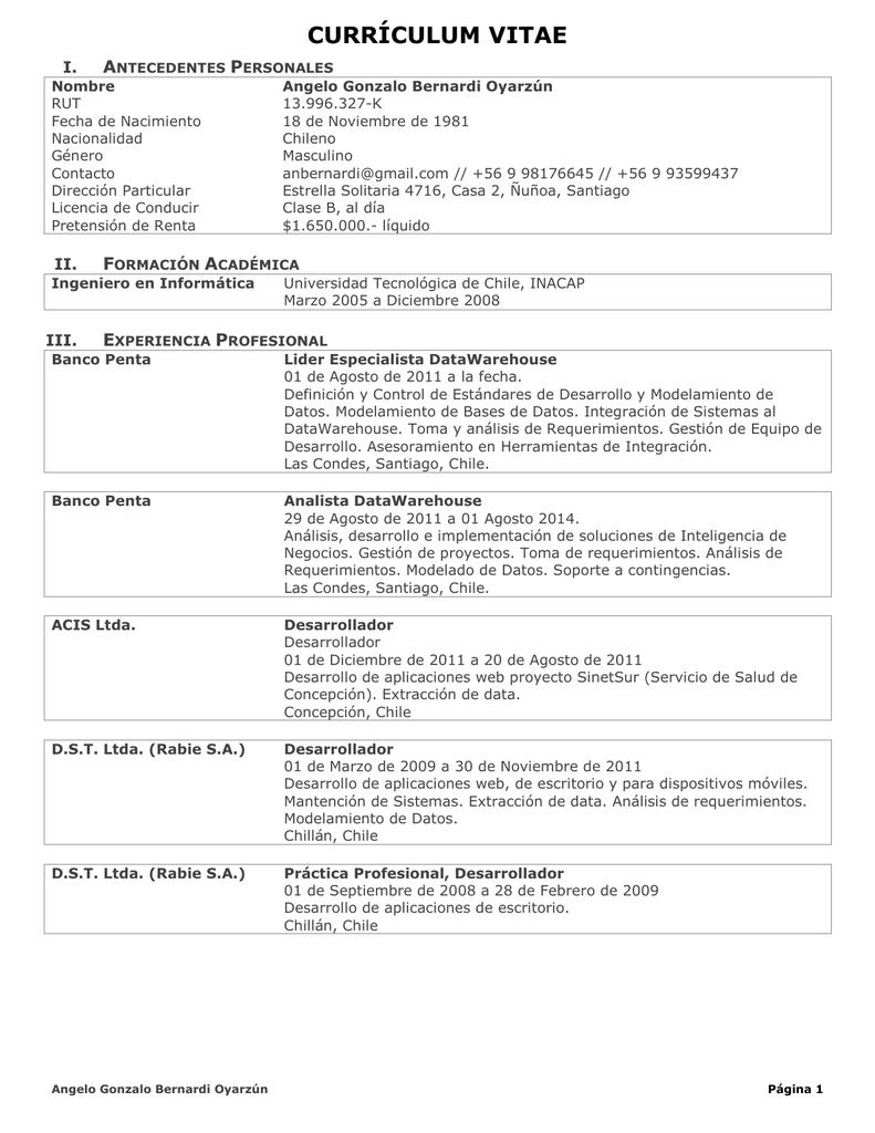 Encantador Currículum Para El Analista De Apoyo Foto - Colección De ...