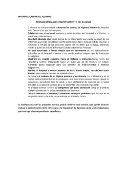 Información para el alumno