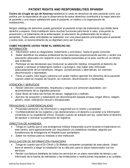 patient rights and responsibilities spanish