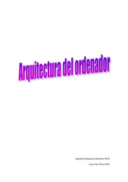 Estructura de un computador for Arquitectura ordenador