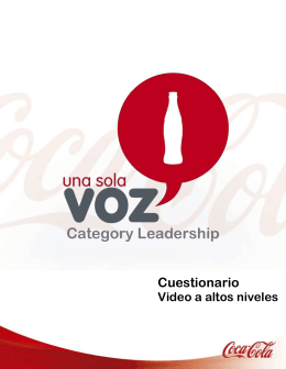 Cuestionario Video a altos niveles Category Leadership