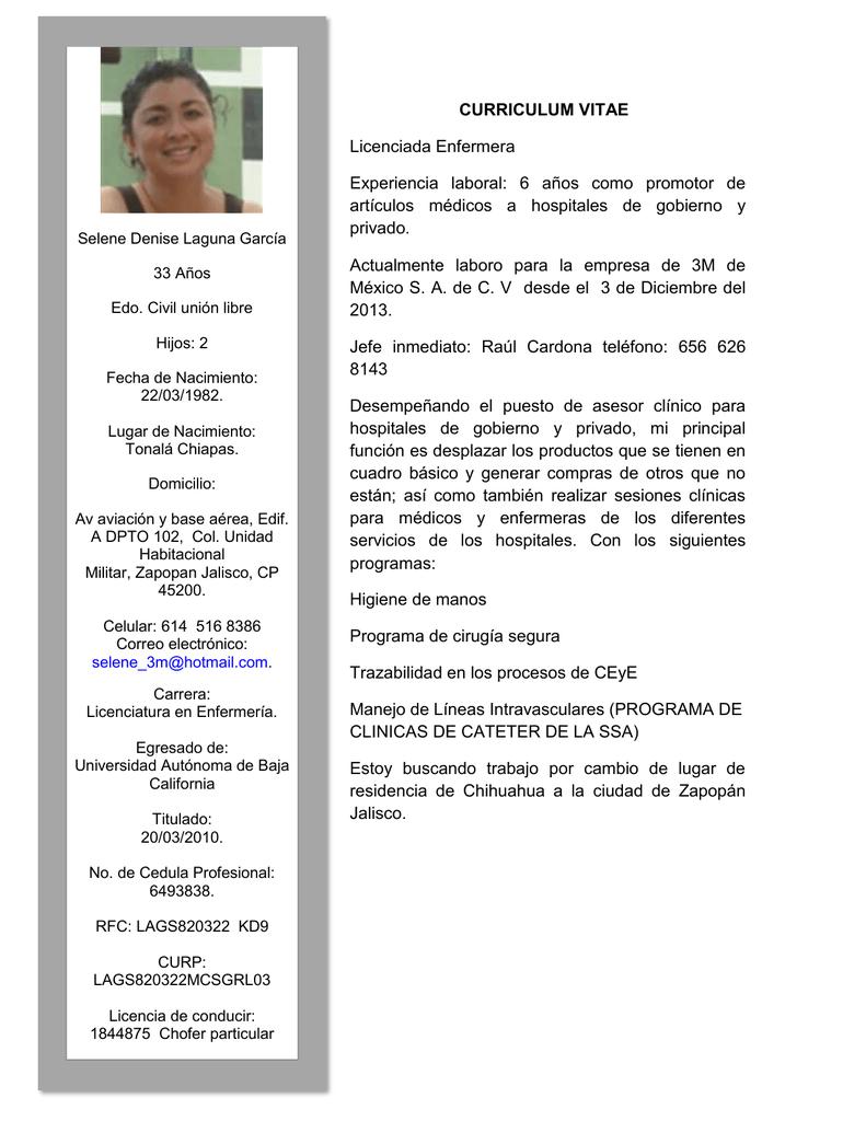 Vistoso Curriculum Vitae Para La Enfermera Registrada Componente ...