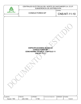 CNS-NT-11-10 CONDUCTORES MT  CENTRALES ELÉCTRICAS DEL NORTE DE SANTANDER S.A. E.S.P.