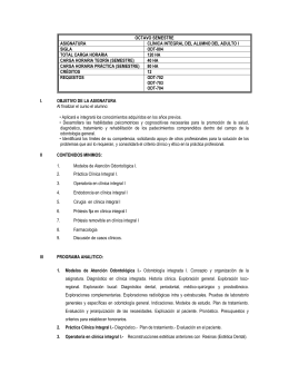 SYLLABUS CLINICA INTEGRAL ADULTO I II-2014