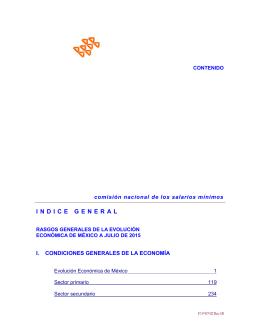 Índice de julio 2015 - Comisión Nacional de los Salarios Mínimos