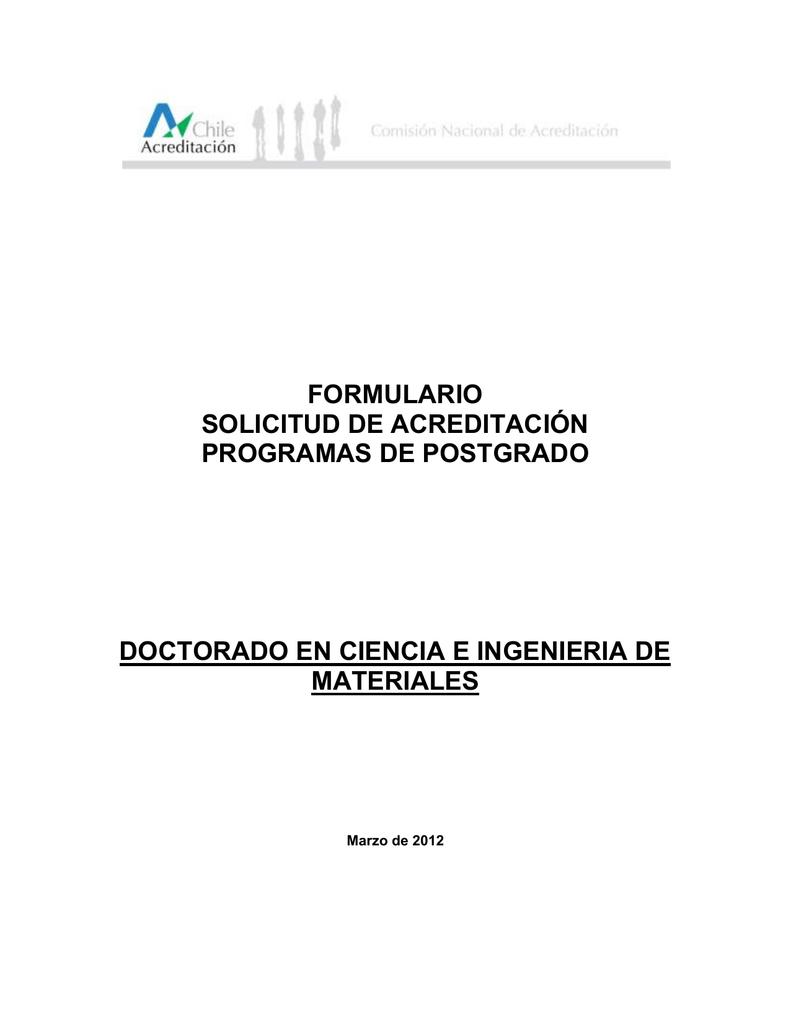 Descargar Formulario de Acreditación de Programas de Postgrado