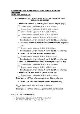 CURSOS MAYORES OCTUBRE 2015