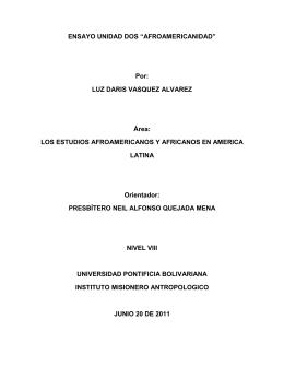 LOS ESTUDIOS AFROAMERICANOS Y AFRICANOS EN