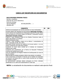 check list recepción de documentos