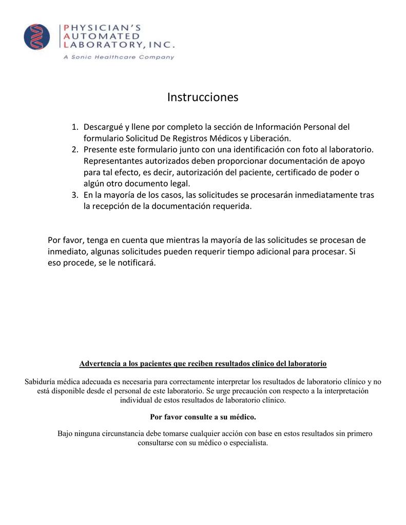 Encantador Plantilla De Formulario De Liberación Médica Ideas ...