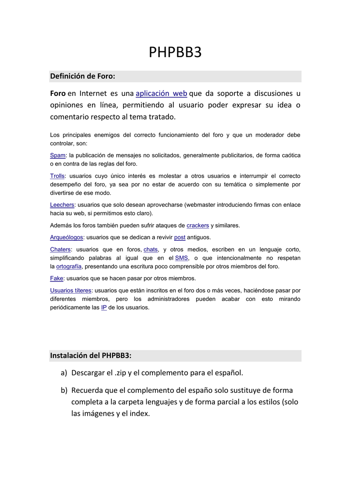 phpbb3 - configuración