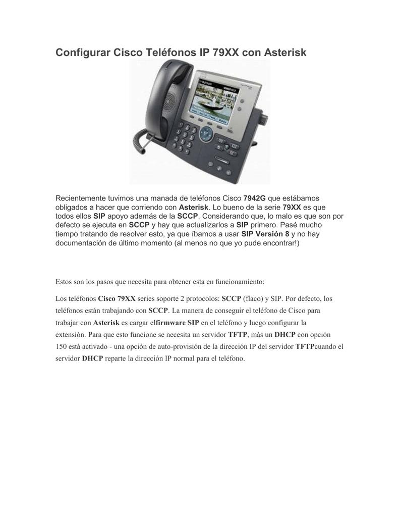 06 Configurar Cisco Teléfonos IP 79XX con