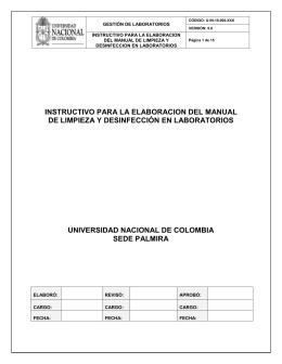 Manual de limpieza y desinfeccion for Manual de limpieza y desinfeccion en restaurantes