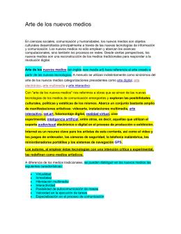 ARTE DE LOS NUEVOS MEDIOS