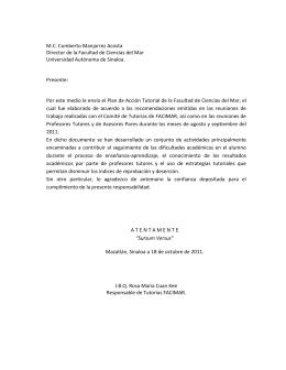 Directorio - Programa Institucional de Tutorías