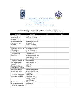Evaluación de docentes (Llenar las encuestas correspondientes al