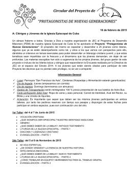 Carta Circular a Jóvenes y Cleros.