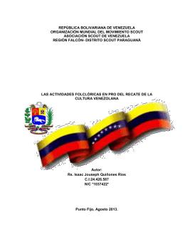 REPÚBLICA BOLIVARIANA DE VENEZUELA ORGANIZACIÓN