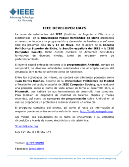 Nota de prensa IEEE Developer Days Elche 2013