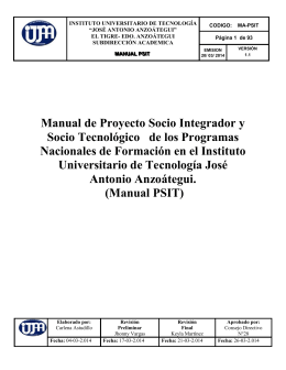 manual proyecto socio integrador 2014