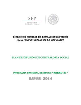 Plan de difusión - Dgespe - Secretaría de Educación Pública