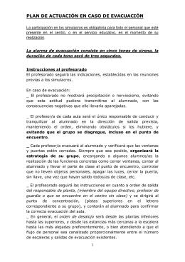 plan de actuación en caso de evacuación13-14