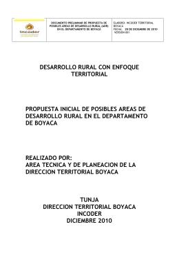 propuesta inicial de 5 posibles adr en boyaca