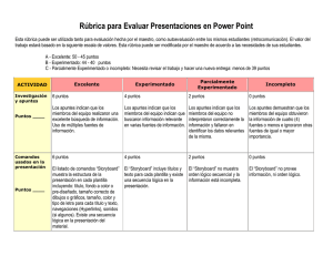 Rúbrica para Evaluar Presentaciones en Power Point