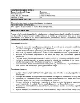 requisitos convocatoria docentes