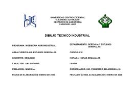 Programa Dibujo Tecnico Industrial