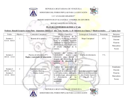 Planificacion de química general I 3er año.