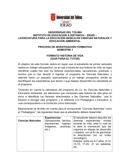 UNIVERSIDAD DEL TOLIMA – IDEAD – INSTITUTO DE EDUCACION A DISTANCIA