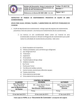 Nombre del Documento: Anexo 2 instructivo de trabajo del