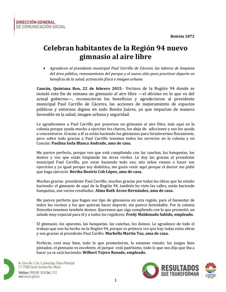 Celebran Habitantes De La Región 94 Nuevo Gimnasio Al Aire Libre