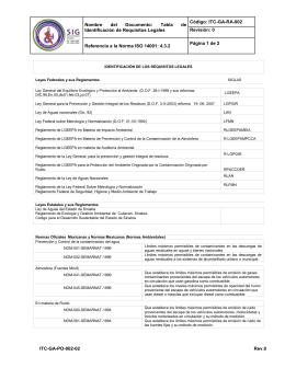 Nombre del Documento: Tabla de Identificación de Requisitos
