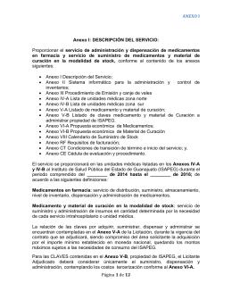 Anexo I Descripción del Servicio