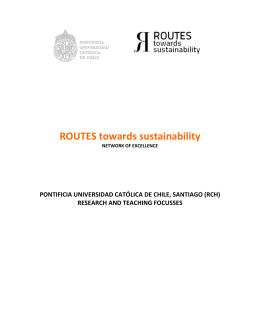 ROUTES towards sustainability