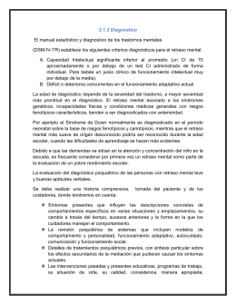 2.1.3 Diagnostico El manual estadístico y diagnostico de los trastornos mentales