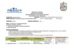 REPUBLICA DE PANAMA MINISTERIO DE EDUCACION DIRECCIÓN REGIONAL DE EDUCACIÓN DE VERAGUAS