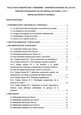 propuesta - FAU UNLP - Universidad Nacional de La Plata